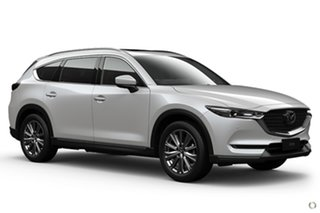 2021 Mazda CX-8 KG4W2A Asaki SKYACTIV-Drive i-ACTIV AWD White 6 Speed Sports Automatic Wagon.