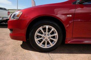 2012 Mitsubishi Lancer CJ MY13 LX Red 6 Speed CVT Auto Sequential Sedan.