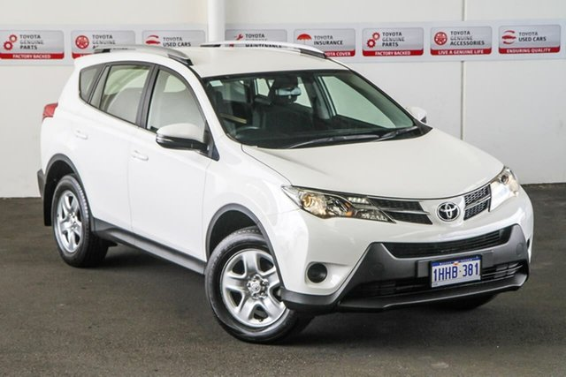 Pre-Owned Toyota RAV4 ZSA42R MY14 Upgrade GX (2WD) Myaree, 2015 Toyota RAV4 ZSA42R MY14 Upgrade GX (2WD) Glacier White Continuous Variable Wagon