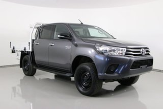 2017 Toyota Hilux GUN126R MY17 SR (4x4) Graphite 6 Speed Automatic Dual Cab Chassis.