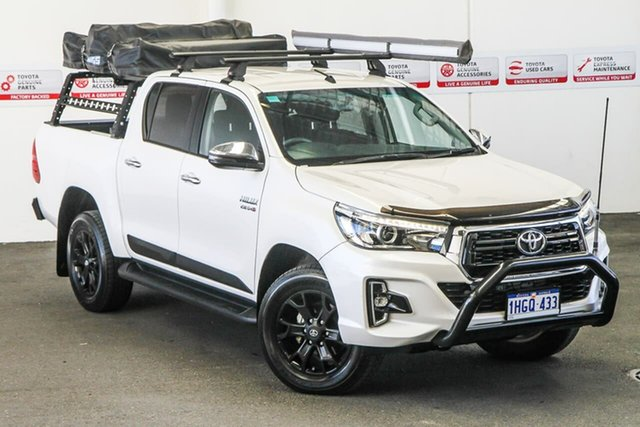 Pre-Owned Toyota Hilux GUN126R SR5 Double Cab Rockingham, 2018 Toyota Hilux GUN126R SR5 Double Cab Crystal Pearl 6 Speed Sports Automatic Utility