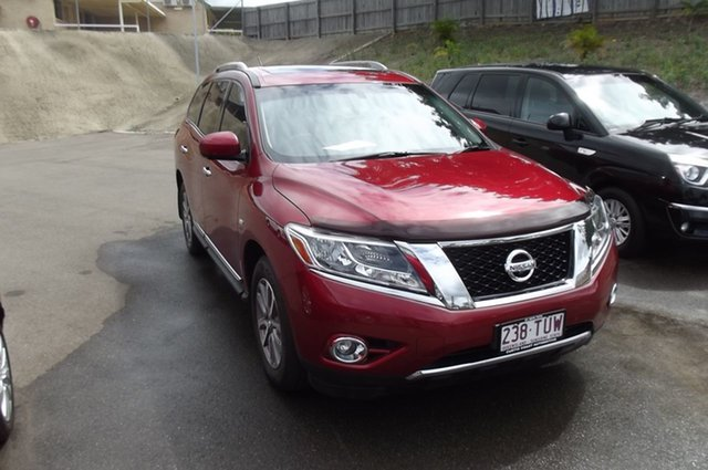 Used Nissan Pathfinder R52 MY14 ST-L X-tronic 4WD South Gladstone, 2014 Nissan Pathfinder R52 MY14 ST-L X-tronic 4WD Red 1 Speed Constant Variable Wagon