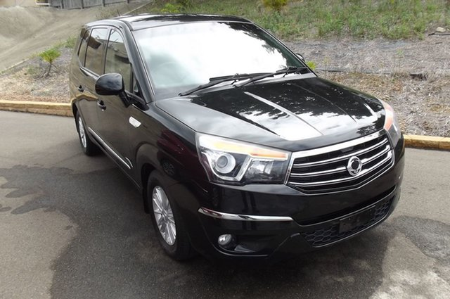 Used Ssangyong Stavic A100 MY14 South Gladstone, 2014 Ssangyong Stavic A100 MY14 Black 5 Speed Sports Automatic Wagon