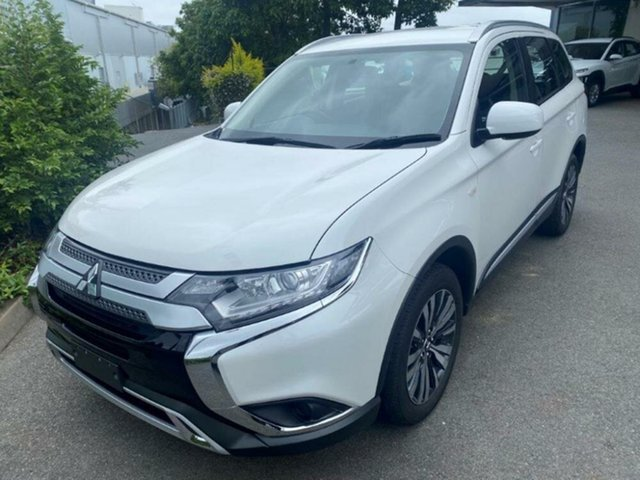 Used Mitsubishi Outlander ZL MY19 ES AWD Springwood, 2019 Mitsubishi Outlander ZL MY19 ES AWD White 6 Speed Constant Variable Wagon