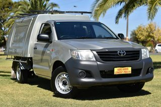 2013 Toyota Hilux TGN16R MY12 Workmate 4x2 Silver 5 Speed Manual Cab Chassis.