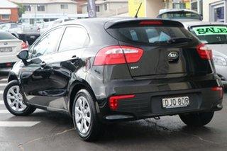 2016 Kia Rio UB MY16 S Black 6 Speed Manual Hatchback.
