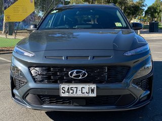 2021 Hyundai Kona Os.v4 MY21 N-Line D-CT AWD Premium Dark Knight & Black Roof 7 Speed.