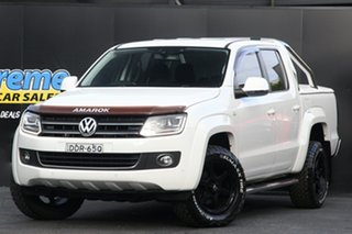 2016 Volkswagen Amarok 2H MY16 TDI400 4Mot White 6 Speed Manual Utility.