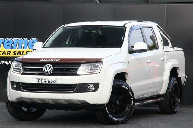 Used Volkswagen Amarok 2H MY16 TDI400 4Mot Campbelltown, 2016 Volkswagen Amarok 2H MY16 TDI400 4Mot White 6 Speed Manual Utility