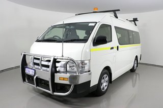 2014 Toyota HiAce KDH223R MY14 Commuter White 5 Speed Manual Bus