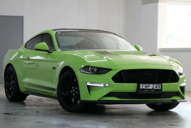 Demo Ford Mustang FN 2020MY GT Homebush, 2020 Ford Mustang FN 2020MY GT Grabber Lime 10 Speed Sports Automatic Fastback