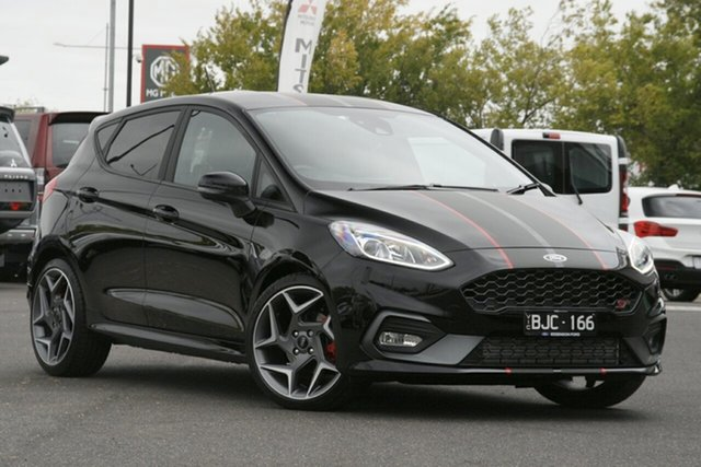 Used Ford Fiesta WG 2020.75MY ST Essendon Fields, 2020 Ford Fiesta WG 2020.75MY ST Black 6 Speed Manual Hatchback