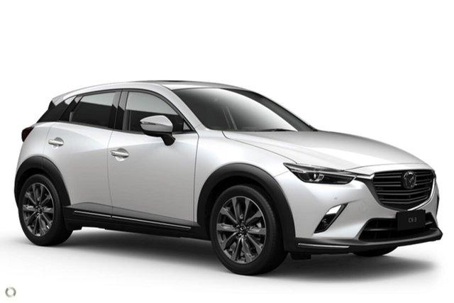 New Mazda CX-3 DK2W7A Akari SKYACTIV-Drive FWD Waitara, 2021 Mazda CX-3 DK2W7A Akari SKYACTIV-Drive FWD White 6 Speed Sports Automatic Wagon