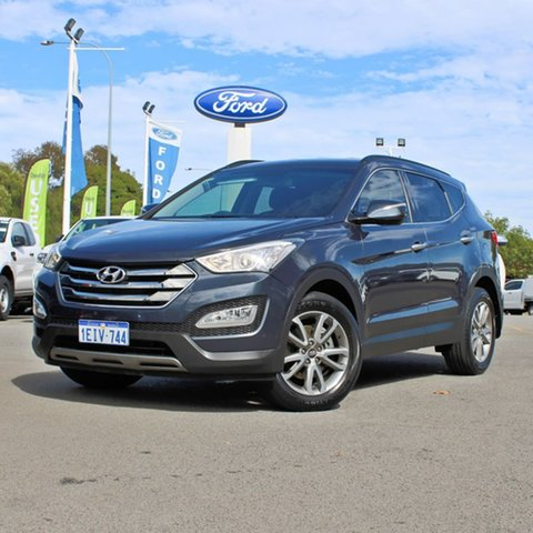Used Hyundai Santa Fe DM MY13 Elite Midland, 2013 Hyundai Santa Fe DM MY13 Elite Blue 6 Speed Sports Automatic Wagon