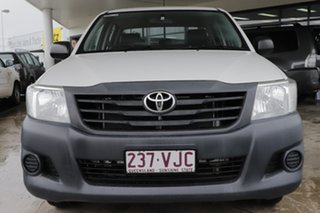 2014 Toyota Hilux TGN16R MY14 Workmate Double Cab 4x2 Glacier White 4 Speed Automatic Utility