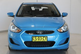 2018 Hyundai Accent RB6 MY19 Sport Blue 6 Speed Sports Automatic Hatchback