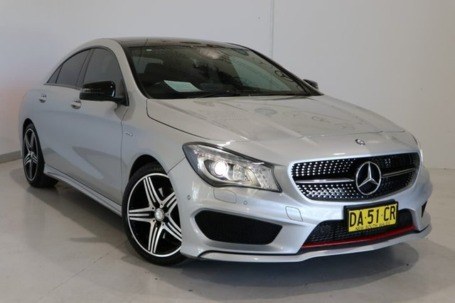 Used Mercedes-Benz CLA-Class C117 806MY CLA250 DCT 4MATIC Sport Wagga Wagga, 2016 Mercedes-Benz CLA-Class C117 806MY CLA250 DCT 4MATIC Sport Silver 7 Speed
