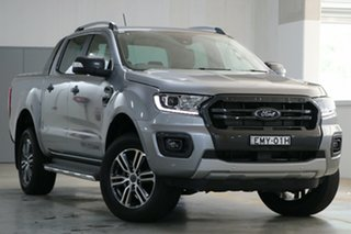 2020 Ford Ranger PX MkIII 2021.25MY Wildtrak Aluminium Silver 10 Speed Sports Automatic.