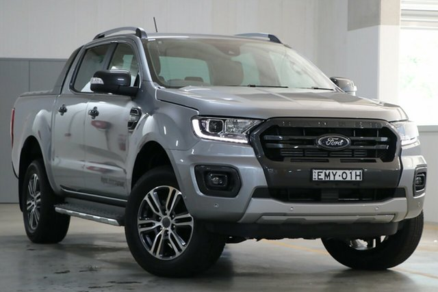 Demo Ford Ranger PX MkIII 2021.25MY Wildtrak Homebush, 2020 Ford Ranger PX MkIII 2021.25MY Wildtrak Aluminium Silver 10 Speed Sports Automatic