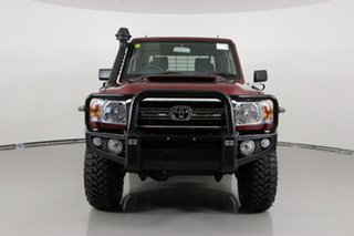2020 Toyota Landcruiser VDJ79R GXL (4x4) Merlot 5 Speed Manual Double Cab Chassis.