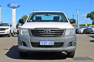2013 Toyota Hilux TGN16R MY12 Workmate 4x2 White 5 Speed Manual Cab Chassis.