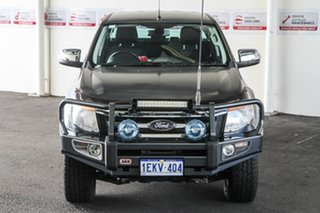2013 Ford Ranger PX XLT 3.2 (4x4) Grey 6 Speed Automatic Double Cab Pick Up.