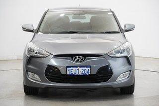 2013 Hyundai Veloster FS2 Coupe D-CT Grey 6 Speed Sports Automatic Dual Clutch Hatchback.