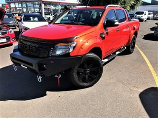 2012 Ford Ranger PX Wildtrak Double Cab Orange 6 Speed Sports Automatic Utility.