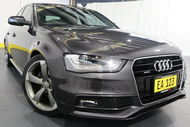 Used Audi A4 B8 8K MY14 S Line S Tronic Quattro Castle Hill, 2014 Audi A4 B8 8K MY14 S Line S Tronic Quattro Grey 7 Speed Sports Automatic Dual Clutch Sedan