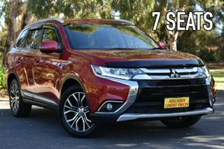 2015 Mitsubishi Outlander ZK MY16 XLS 4WD Red 6 Speed Sports Automatic Wagon.