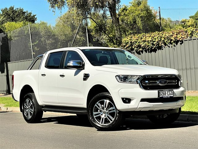 Used Ford Ranger PX MkIII 2020.75MY XLT Hyde Park, 2020 Ford Ranger PX MkIII 2020.75MY XLT Arctic White 10 Speed Sports Automatic Double Cab Pick Up