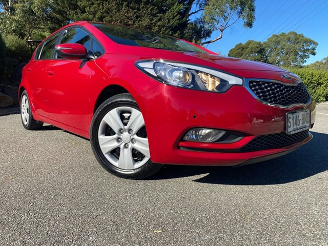 Used Kia Cerato YD MY15 S Totness, 2015 Kia Cerato YD MY15 S Temptation Red 6 Speed Sports Automatic Hatchback