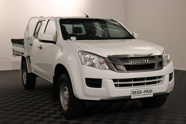 Used Isuzu D-MAX MY15.5 SX Crew Cab 4x2 High Ride Acacia Ridge, 2016 Isuzu D-MAX MY15.5 SX Crew Cab 4x2 High Ride White 5 speed Automatic Cab Chassis