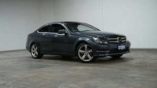 2014 Mercedes-Benz C-Class C204 MY14 C180 7G-Tronic + Grey 7 Speed Sports Automatic Coupe.