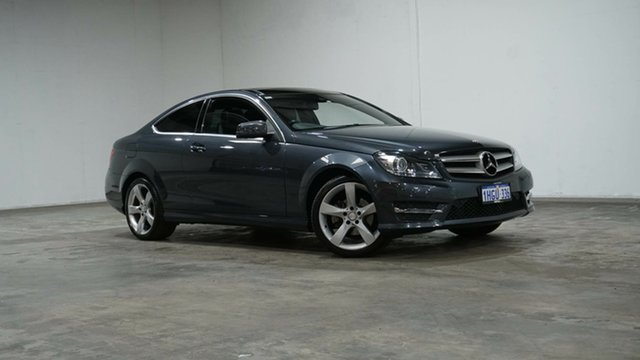 Used Mercedes-Benz C-Class C204 MY14 C180 7G-Tronic + Welshpool, 2014 Mercedes-Benz C-Class C204 MY14 C180 7G-Tronic + Grey 7 Speed Sports Automatic Coupe