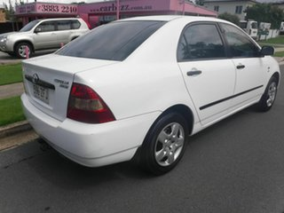 2004 Toyota Corolla ZZE122R Ascent White 4 Speed Automatic Sedan.
