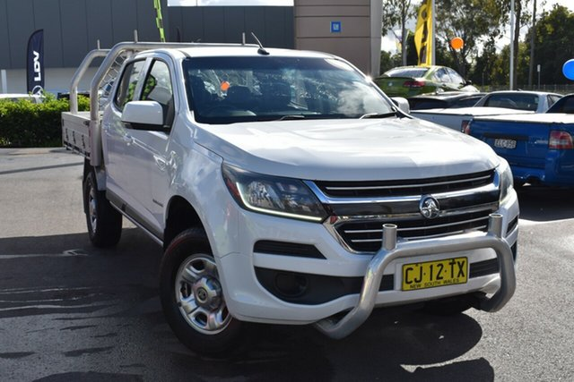Used Holden Colorado RG MY16 LS Crew Cab 4x2 Tuggerah, 2016 Holden Colorado RG MY16 LS Crew Cab 4x2 White 6 Speed Manual Cab Chassis