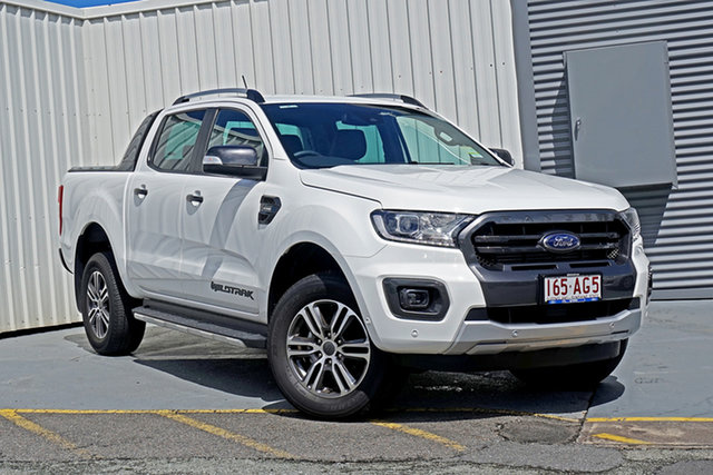 Used Ford Ranger PX MkIII 2020.75MY Wildtrak Springwood, 2020 Ford Ranger PX MkIII 2020.75MY Wildtrak White 10 Speed Sports Automatic Double Cab Pick Up
