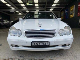 2002 Mercedes-Benz C-Class W203 C180 Kompressor Classic White Automatic Sedan.