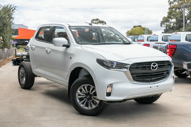 New Mazda BT-50 Mornington, 2021 Mazda BT-50 BT-50 B 6AUTO 3.0L DUAL CAB CHASSIS XT 4X4 Ice White CRCCC