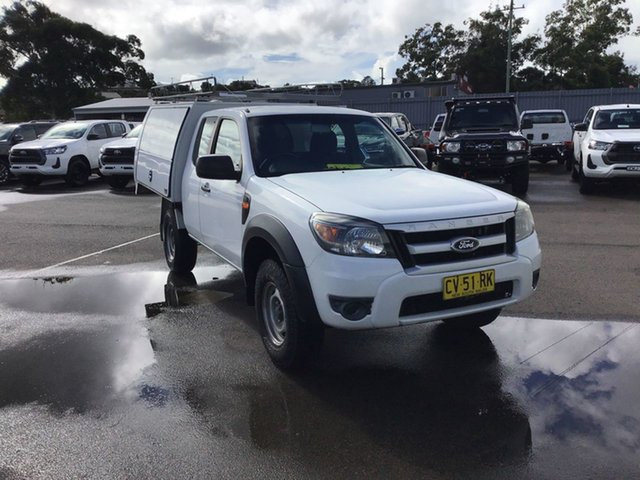 Used Ford Ranger PK XL Hi-Rider Cardiff, 2009 Ford Ranger PK XL Hi-Rider White 5 Speed Manual Cab Chassis