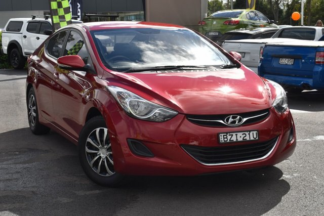 Used Hyundai Elantra HD MY10 SX Tuggerah, 2011 Hyundai Elantra HD MY10 SX Red 4 Speed Automatic Sedan