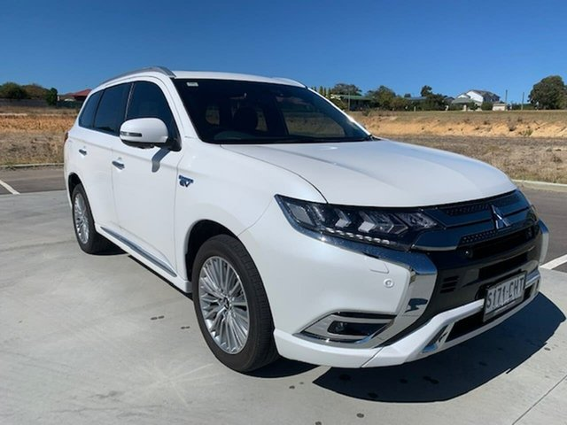 Used Mitsubishi Outlander ZL MY19 PHEV AWD Exceed Victor Harbor, 2018 Mitsubishi Outlander ZL MY19 PHEV AWD Exceed White 1 Speed Automatic Wagon Hybrid