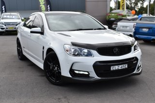 2015 Holden Commodore VF II MY16 SS V White 6 Speed Manual Sedan.