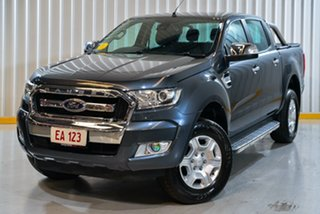 2017 Ford Ranger PX MkII XLT Double Cab 4x2 Hi-Rider Grey 6 Speed Sports Automatic Utility.