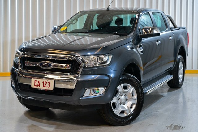Used Ford Ranger PX MkII XLT Double Cab Hendra, 2017 Ford Ranger PX MkII XLT Double Cab Grey 6 Speed Sports Automatic Utility
