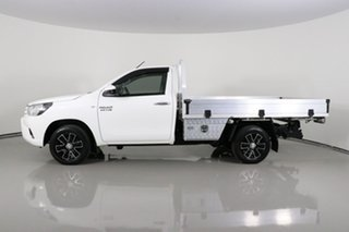 2017 Toyota Hilux GUN123R SR White 5 Speed Manual Cab Chassis