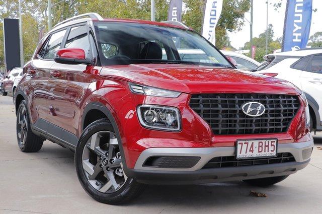 Demo Hyundai Venue QX.V3 MY21 Active Toowoomba, 2021 Hyundai Venue QX.V3 MY21 Active Fiery Red 6 Speed Automatic Wagon