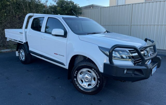 Used Holden Colorado RG MY17 LS Crew Cab Devonport, 2017 Holden Colorado RG MY17 LS Crew Cab White 6 Speed Sports Automatic Cab Chassis