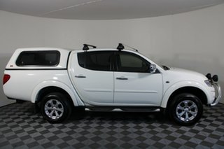 2015 Mitsubishi Triton MN MY15 GLX-R Double Cab White 5 Speed Sports Automatic Utility.